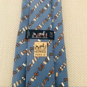 Hermès Silk Tie: Biscotti Cookies Print Pattern